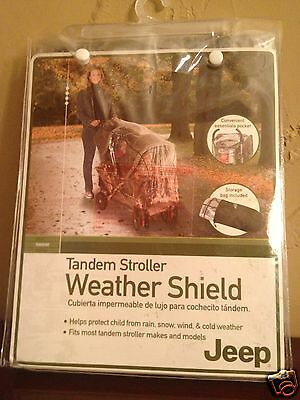 NEW 90112 JEEP Graco Tandem Dual Stroller cover storage bag NIB weather shield