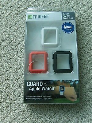 Trident Case - Odyssey Guards for Apple Watch38mm (3-Pack) - Black/Pink/White