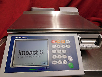 Mettler Toledo Smart Touch Scale Impact Pact S Scale & Printer CLEANED! #525