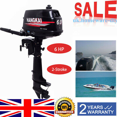 6HP 2Stroke Outboard Motors Sail Fishing Boat Engine Water Cooling CDI System UK