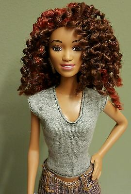 BEAUTIFUL OOAK ETHNIC BARBIE DOLL with loose twists