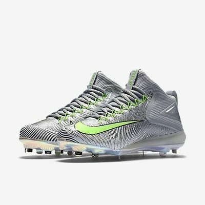 NIKE ZOOM MIKE TROUT 3 ASG Sz 9 METAL BASEBALL CLEAT 844627-031 SILVER  GREEN