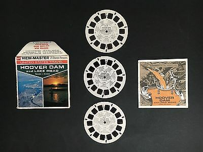 """View-Master """"hoover Dam"""" Set Of 3 Reels & Booklet"""