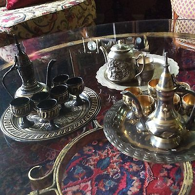 Antique coffee and tea sets.Turkish and Persian.