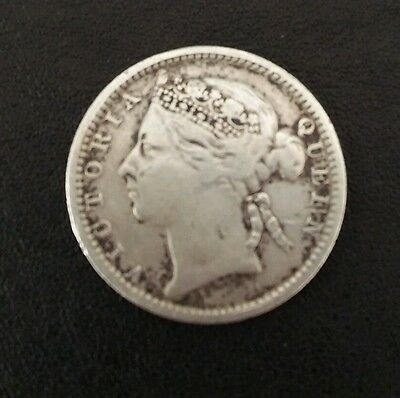 """Victoria Straits Settlement 10 cents Extremely Rare """"OFFERS"""""""