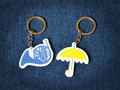 New TV Serious How I Met Your Mother Yellow Umbrella Blue Horn Key Chain Keyring