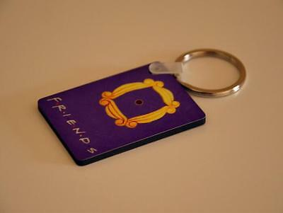 NEW Friends TV Serious Yellow Frame Peephole MONICA'S Door Key Chain Keyring