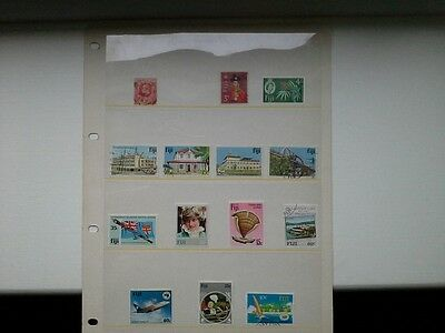 Fiji - Selection of Mint Hinged and Used Stamps Issued Pre & Post Independence