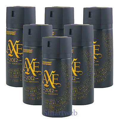 6 x 150ml Axe Final Edition Deo Deospray Deodorant Bodyspray Herrendeo