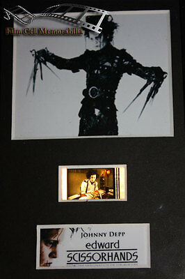Edward Scissorhands - 6x4 Framed movie  film cell display, Nice Gift
