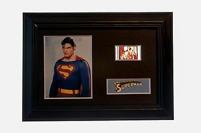 Superman - 6x4 Framed movie film cell display, Nice Gift