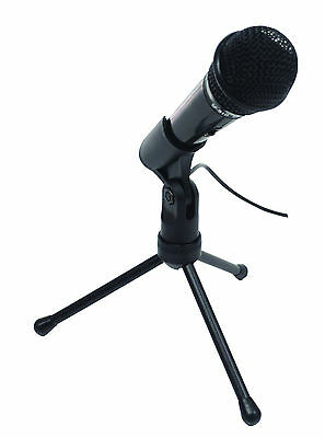 Condenser USB PC Mac Gaming Recording 3.5mm Jack Microphone Adjustable Stand