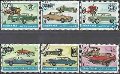 Timbres VOITURES Manama Lot A o (2574)