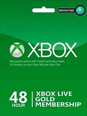 48 Hours 2 Days Xbox Live Trial Gold Membership for Xbox One / 360 Instant - UK