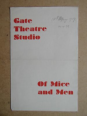 Of Mice and Men By John Steinbeck. Gate Theatre Studio. 1939. With John Mills.