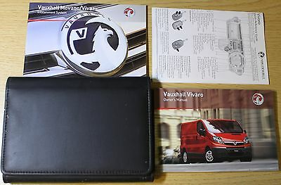 VAUXHALL VIVARO OWNERS MANUAL HANDBOOK WALLET 2006-2014 PACK 2011 print
