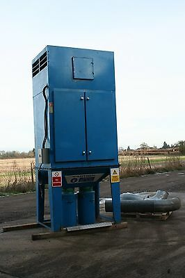 Large Industrial 5.5kw Dust Extractor Unit C/W Shaker Control & Ducting not dce