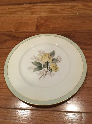 "Lot Of 6 VINTAGE NORITAKE CHINA HUNTLEY 8 1/4"" Bread & Butter Plates Yellow Rose"