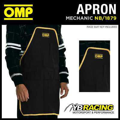 Nb/1879 Omp Racing Pit Crew Mechanic Work Cotton Apron With Pouch & Tool Pockets