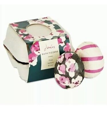 BNIB New JOULES Bath Fizzers Set of 4 Wrapped in Box Bath Bombs Lovely Gift