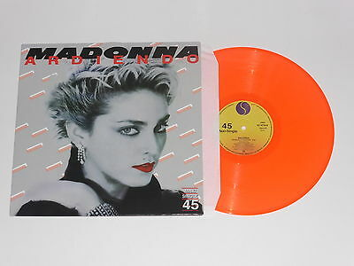 "Madonna - Ardiendo Burning Up - Rare Orange Vinyl 12"" Maxi Single Spain Spanish"