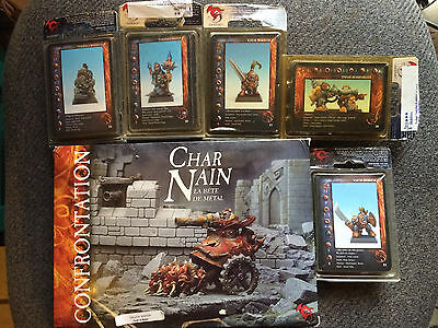 Confrontation Dwarves lot, Armored Chariot, warriors, bombardier and Priest.