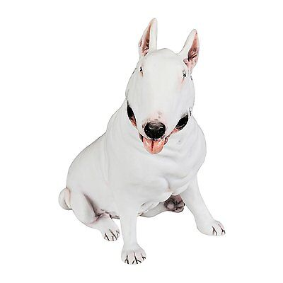 "Bull Terrier Hand Painted Solid Statue 5.6"" White"