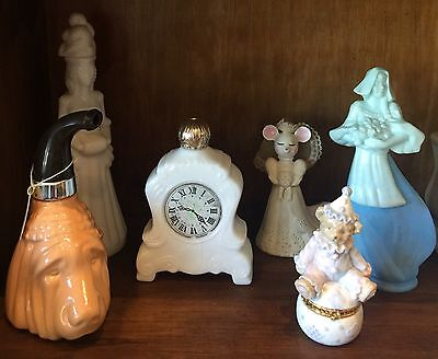 Six Vintage Assorted Avon Perfume  Cologne Bottles / Jars