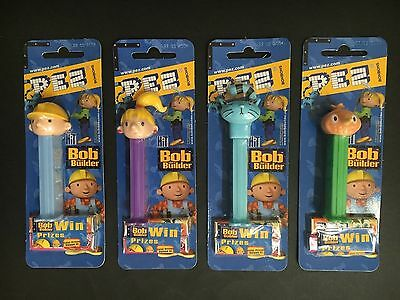 """pez"" Bob The Builder Set Of 4 Mint In Pack"
