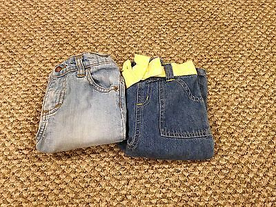 LOT 2 Baby Girl CAPRI Jeans 24M 24 MONTHS INFANT TODDLER BOTTOMS PANTS CLOTHES