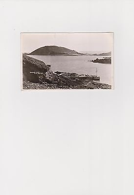 Rosaire Steps and Jethou, Herm Island. Photographic Postcard by Norman Grut.