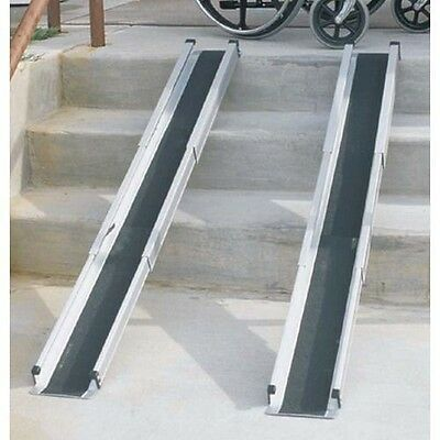 Mabis DMI 5' Telescoping Adjustable Wheelchair Ramps- NEW!