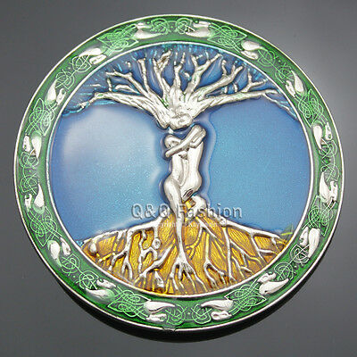 Celtic Knot Colors Tree Of Life Love Nordic Mythology Belt Buckle Pagan Wicca