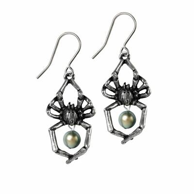 Alchemy Gothic Glistercreep Pewter Pair of Earrings BRAND NEW