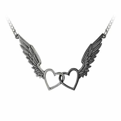 Alchemy Gothic Passio: Wings Of Love Pewter Necklace BRAND NEW