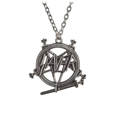Alchemy Poker Slayer: Pentagram logo Pewter Pendant BRAND NEW