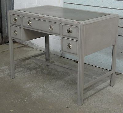 Antique Marsh Jones Cribb Bath Painted Shabby Chic Leather Top Desk