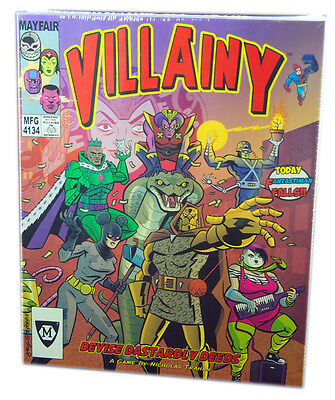 Mayfair Games 4134, Villainy Board Game, new and sealed