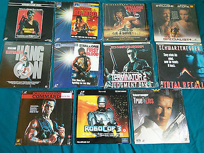 11x Collection of Laserdiscs Laser Discs - PAL Stallone &