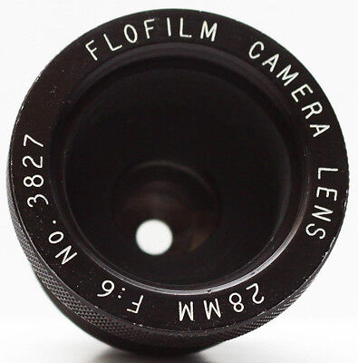 Vintage Flofilm Flo Film F/6 28mm Projector Camera Lens