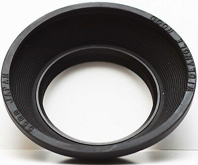 Wide Angle Collapsible Rubber Lens Hood 55mm 55 mm Japan