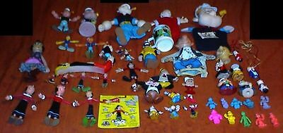 50 Different POPEYE Toys, Figures, etc,  Olive Oyl, Wimpy (Gund Puppet), Brutus