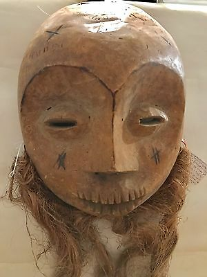Large Old Lega Bwami Society African mask. African Art Lot#8