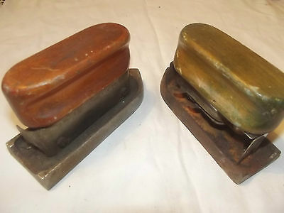 Vintage  SOLID FUEL TRAVELling  IRON 2 Of.