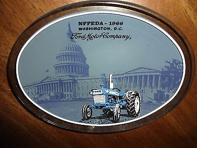 Vintage Ford Tractor 1966 Advertising Tinted Glass Dish - Tip Tray