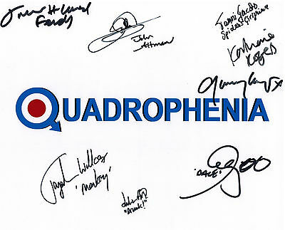 QUADROPHENIA cast Signed 8x10 Autograph Photo - CULT CLASSIC MOVIE THE WHO 2