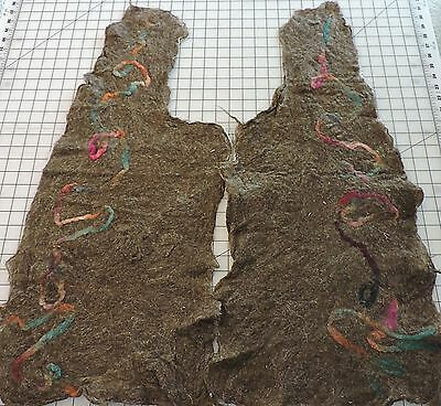 Felted LLama - Alpaca Vest Front With Colorful Design - Ready to Create