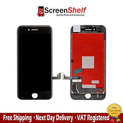 "For Apple iPhone 7 4.7"" LCD Display Screen Touch Digitizer Frame Assembly Black"