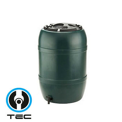 210L Strata Water Butt With Childproof Lid & Tap Green