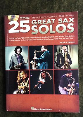 25 Great Sax Solos Hal Leonard  Book Only  81 pages from Chuck Rio to Kenny G